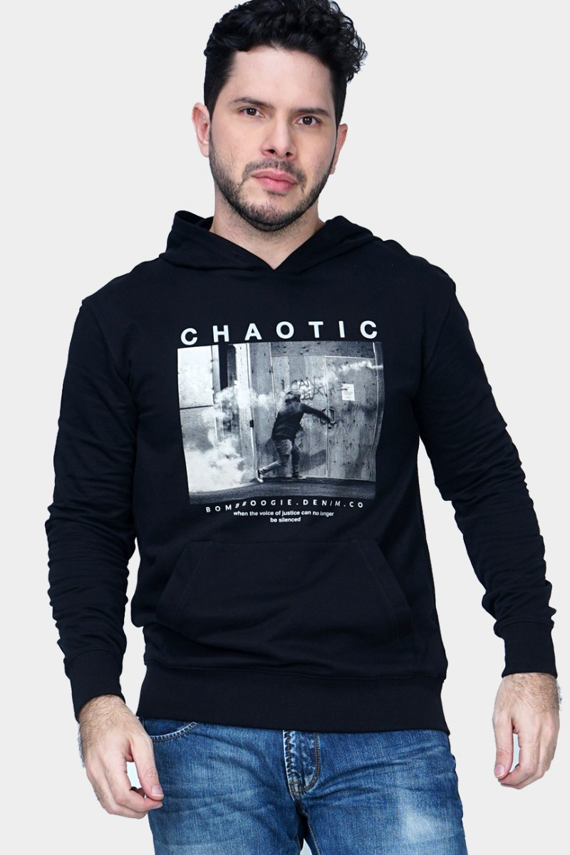 Chaotic Black Sweater